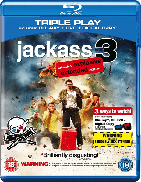 Чудаки 3D / Jackass 3D (2010) [Unrated] BDRip 1080p